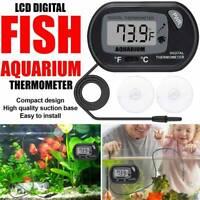 Hot Digital LCD Fish Tank Aquarium Marine Water Thermometer Temperature Black
