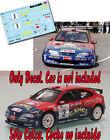 Decal 1:43 Jesus Puras CITROEN XSARA KIT CAR Rally El Corte Ingles 1999 WINNER