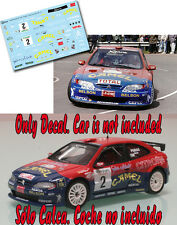 Decal 1:43 Jesus Puras  CITROEN XSARA KIT CAR  Rally El Corte Ingles 1999 WINNER