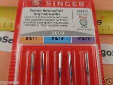 5 Genuine Singer 14Sh,14T,14CG,14J Serger Overlock Needles 2022 11,14,16 ELx705