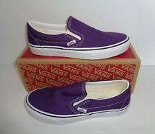 VANS Ladies Purple Trainers Casual Slip On Womens Slip On Shoes New UK Size 5