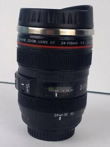 "Detailed Realistic Camera Lens Coffee Travel Mug 5 3/4"" Tall"