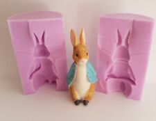 3d PETER RABBIT SILICONE MOULD FOR CAKE TOPPERS, CHOCOLATE, CLAY ETC