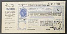 More details for 1963 qeii british postal order 1/- one shilling
