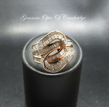 9ct Rose Gold Tomas Rae Diamond Certified Ring Size L 1/2 6.8g with certificate