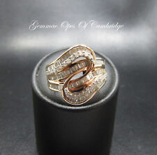 Tomas Rae 9K Gold 9ct Rose Gold Diamond Ring Size L 1/2 6.8g with certificate