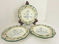 Paula Deen Home For The Holidays Christmas Recipe Decorator Plates Set of 3