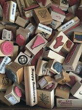 Grab Bag of 20 New Mounted Rubber Stamps Mixed types/brands Approx $100 retail