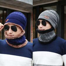 Unisex Men Camping Hat Winter Warm Beanie Baggy Wool Ski Scarf Cap Fleece Line