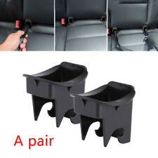 1 Pair Plastic Auto Car Baby Seat ISOFIX Latch Belt Connector Guide Groove Black