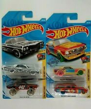 2019,18-Hot Wheels-4 HW Art Cars-Impala,Mustang,Nova Wagon,Olds 442 W-3-1:64-Boy