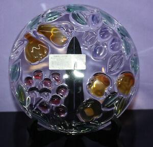 "Mikasa Garden Harvest Crystal 7-1/4"" Dessert Plate ~ Embossed Color ~ Fruit"