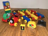 Lego Duplo Lot-Train Car Base-Thomas Mega-Octan Motor Bricks-Sunshine Flowers