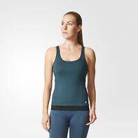 Adidas Yogi Yoga Tank Top Shirt Sport Fitness Damen Blau AB0023 XS M L XL NEU 3S