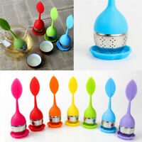 Tea Infuser Loose Leaf Strainer Silicone Herbal Filter Diffuser Ball Home Decor