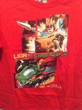NEW LEGO CHIMA LION VS. CROCODILE TOP SHIRT BOYS XL 18 RED SHORT SLEEVE