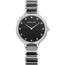 Bering Women's Watch 30434-742 Analog Stainless Steel, Ceramic Black, Silver