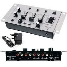 Mixer DJ 3 Canali - Microfoni Crossfade Talkover Pre-amplif. microfoni - Karaoke