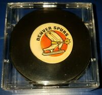 Denver Spurs CCM ART ROSS converse hockey GAME puck MADE IN THE USA SCARCE RARE