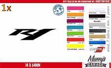 Yamaha r1 14x64mm Autocollant, Sticker Moto Moteur Sport autocollat étiquette