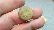 "Vintage 1950's ""Coca-Cola"", brass machine token in Spanish! 22 mm South American"