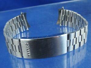 18mm Curved Ends Titus Tuning Fork 9301 Watch Bracelet Strap NOS Vintage 1970s