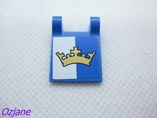 LEGO PART 2335PB109 FLAG 2 X 2 SQUARE WITH GOLD CROWN FROM SET 70806