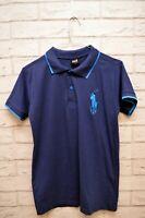 Polo RALPH LAUREN Bimbo Kids Taglia L Blu Maglia Cotone Shirt Hemd Ragazzo