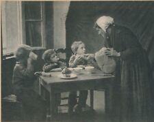 photo Pictorialisme le goûter des enfants tirage pigmentaire années 1930