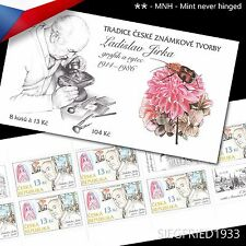 Czech Republic (2014) -  Czech stamp production, Ladislav Jirka - booklet MNH**