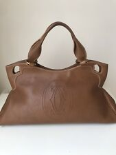 Cartier Marcello Handbag Leather Authentic Pre-Owned