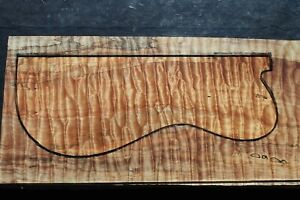 """SPALTED QUILTED MAPLE 22 3/4"""" X 9 1/4"""" X 1 1/4"""": GUITAR, LUTHIER, CRAFT, SCALES"""