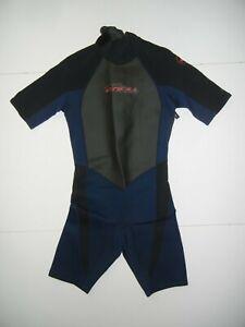 O'NEILL Blue/Black Neoprene 2/1 MM HAMMER SHORTY WETSUIT Surf Beach Sz Men's L
