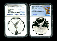 2018 MEXICO SILVER ONZA LIBERTAD REVERSE PROOF NGC PL70 PF70 UCAM 2-COIN SET FR