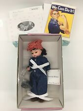 Rosie The Riveter & Lunchpail 17530 Wartime Women 8� In Box Madame Alexander B38