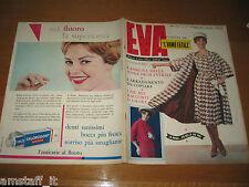 EVA=1959/10=RIVISTA MAGAZINE MODA DONNA WOMAN CUCINA ARREDAMENTO=