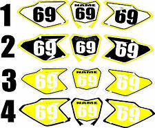 Number Plate Graphics for 2008-2015 Suzuki RMZ450 RMZ 450 RM-Z Side Panels Decal