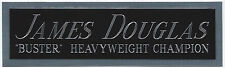 JAMES BUSTER DOUGLAS NAMEPLATE AUTOGRAPHED SIGNED BOXING GLOVE TRUNK PHOTO ROBE