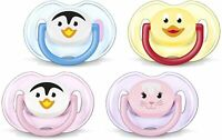 Avent Soother 0-6mth Animals - Pacifier Penguin Orthodontic BPA Free - 2 Pack