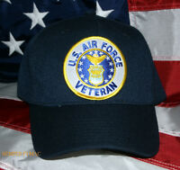US AIR FORCE VETERAN CAP HAT PATCH WOWAFH AFB PIN UP VETERAN WING GIFT WOW
