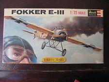 MAQUETTE 1/72 REVELL BOITE VINTAGE 1965 FOKKER E-III  WWI MILITAIRE