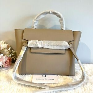 1000% AUTH! 🤎 NWT! RECEIPT! Celine 🤎 Micro Belt  Bag in Beige Light Taupe