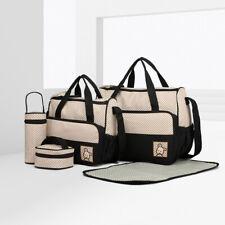 5er-Set Wickeltasche Babytasche Mutter Windeltasche Handtasche Schultertasche
