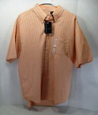 Van Heusen Men's Button Up Shirt Short Sleeve 16 - 16.5 Large Coral Blue NEW