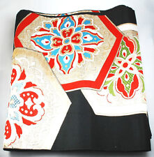 Vintage Japanese Kimono Black & Gold Weave OBI Sash L14.0' x W1.0' from Japan