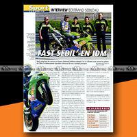 ★ BERTRAND SEBILEAU ★ Interview 2004 Article presse Moto Original Article #a1286