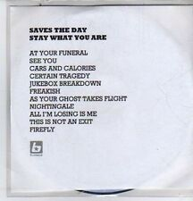 (DE510) Saves The Day, Stay What You Are - DJ CD