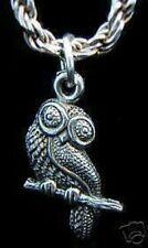 New elegant Owl bird tree branch Real Sterling Silver 925 Charm Pendant Jewelry
