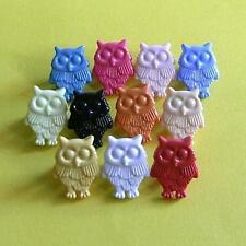 20 Owl Bird Flying Kid Novelty Self Shank Sew On Buttons Cardmarking