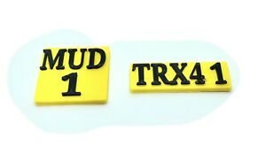 1/10 scale rc accessories Number plates.